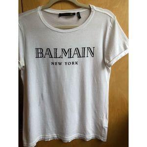 Balmain x H&M Limited Edition Collab Tee - White
